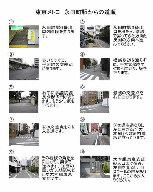 永田町駅からの道順