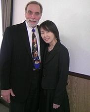 ニーヴス博士と本校代表